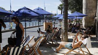 En 2017, il n'y aura pas de sable sur Paris Plages comme c'était le cas l'année dernière. (FRANCOIS GUILLOT / AFP)