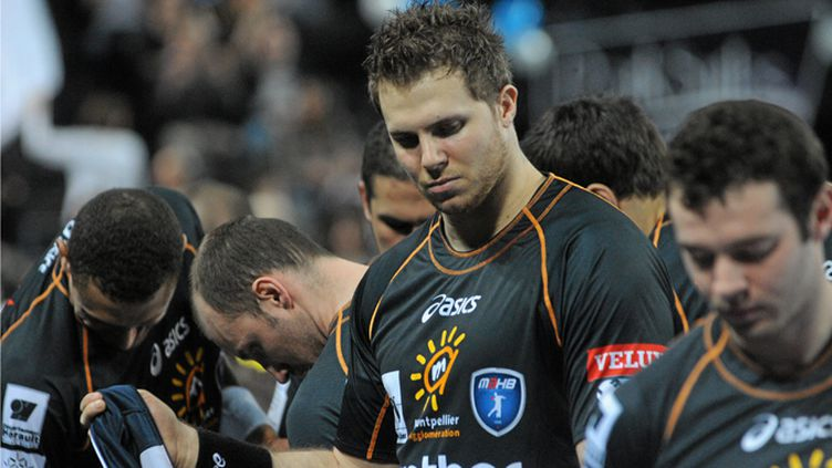 Les joueurs de Montpellier avec William Accambray en tête