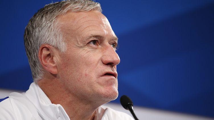 Le sélectionneur de l'équipe de France, Didier Deschamps, au Stade de France (Seine-Saint-Denis), le 27 mars 2017. (BENJAMIN CREMEL / BENJAMIN CREMEL)