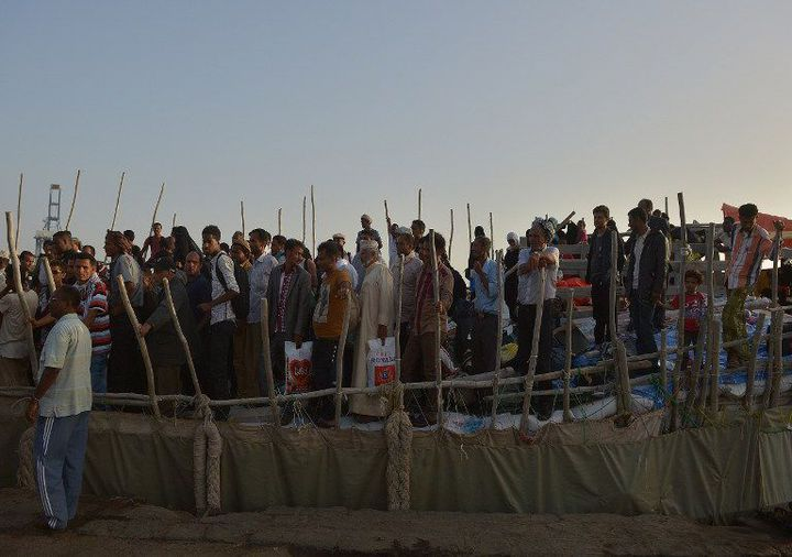 Arrivée de réfugiés au port de Djibouti en avril 2015. (AFP/ Tony Karumba)