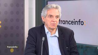 Alexandre Saubot, président de France Industrie, invité de franceinfo mardi 12 octobre 2021. (FRANCEINFO / RADIOFRANCE)