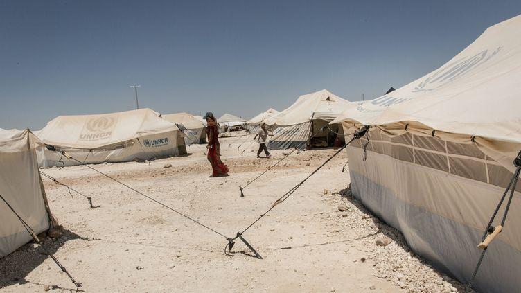 Photo d'illustration représentant le camp de déplacés d'Ain Issa au Nord de la Syrie. (CHRIS HUBY / LE PICTORIUM / MAXPPP)
