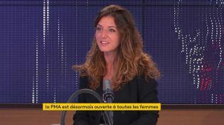 Coralie Dubost, députée LREM de l'Hérault, était l'invitée du 8h30 franceinfo samedi 3 juillet 2021. (FRANCEINFO / RADIOFRANCE)