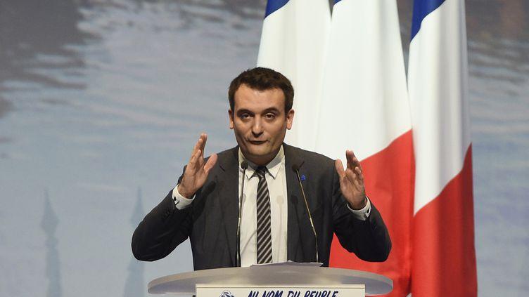 Florian Philippot, le 18 mars 2017 à Metz (Moselle). (JEAN CHRISTOPHE VERHAEGEN / AFP)