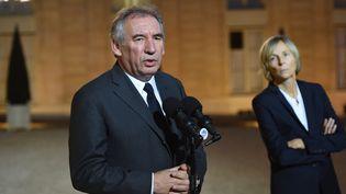 Francois Bayrou etMarielle de Sarnez, le 15 novembre 2015. (Photo d'illustration) (STEPHANE DE SAKUTIN / AFP)