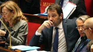 Le ministre de l'Intérieur Christophe Castaner, à l'Assemblée nationale, le 14 janvier 2020. (LUDOVIC MARIN / AFP)