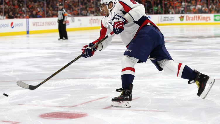 La star des Washington Capitals Alex Ovechkin (PATRICK SMITH / GETTY IMAGES NORTH AMERICA)