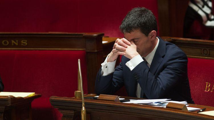 Le Premier ministre, Manuel Valls, à l'Assemblée nationale, le 8 avril 2014. (LCHAM / SIPA)