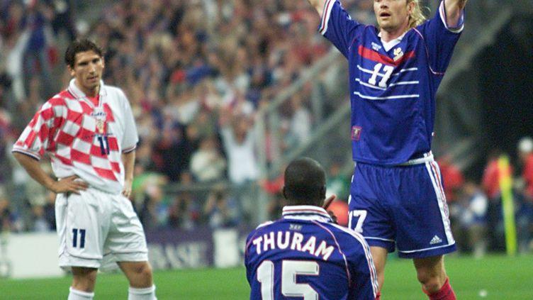 Lilian Thuram héros de la demi-finale du Mondial 1998 France - Croatie (PHILIPPE HUGUEN / AFP)
