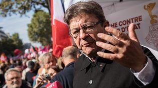 Jean-Luc Mélenchon lors de la mobilisation contre le Code du travail, le 21 septembre 2017 à Paris. (MAXPPP)