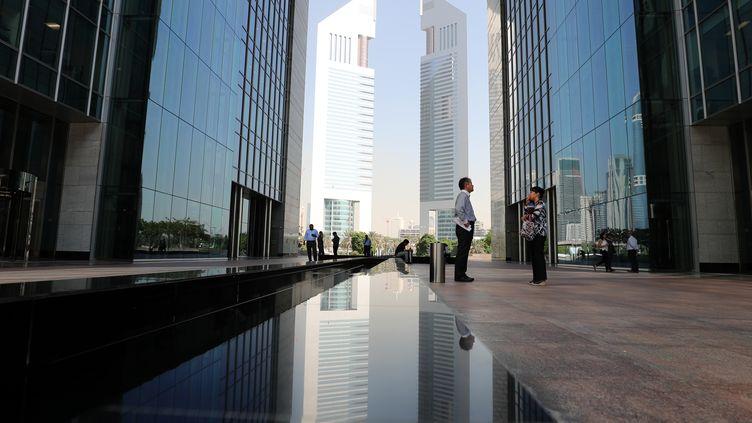 Une vue du quartier financier de Dubaï, le 3 octobre 2017. (KARIM SAHIB / AFP)