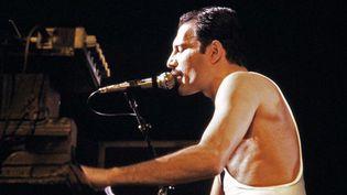 Freddie Mercury à Bercy (Paris) le 18 septembre 1984.  (AFP - Jean Claude Coutausse)