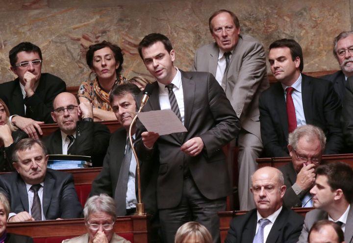 Olivier Véran, le 24 octobre 2012, à l'Assemblée nationale, à Paris. (JACQUES DEMARTHON / AFP)