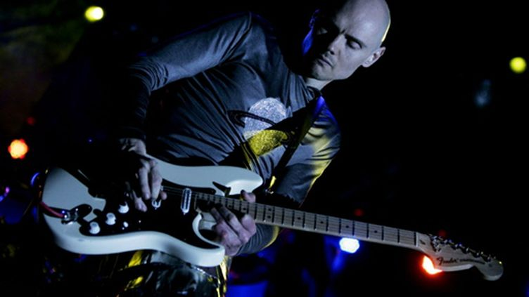 Billy Corgan, leader du groupe Smashing Pumpkins, en Allemagne,  en 2008. (FP PHOTO DDP PHILIPP GUELLAND GERMANY OUT)