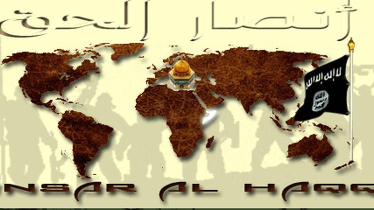 Capture d'écran du site islamiste Ansar al Haqq, dont Romain L., arrêté jeudi 19 septembre, était administrateur. (CAPTURE D'ÉCRAN / ANSAR AL HAQQ)