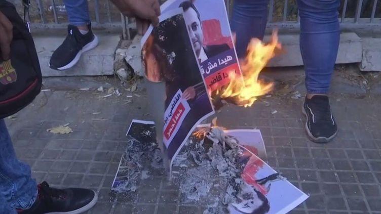Jeudi 14 octobre, une manifestation contre le juge conduisant l'enquête sur l'explosion dans le port de Beyrouth, en août 2020, a dégénéré. (CAPTURE ECRAN FRANCE 3)