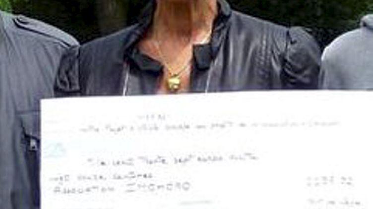 Thérèse Priest, l'humanitaire française enlevée en Centrafrique le 19 janvier 2015, sur une photo prise le 16 juin 2012. (  MAXPPP)