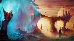 Peinture espace pont entre le Bien et le Mal (SZTOSIU)