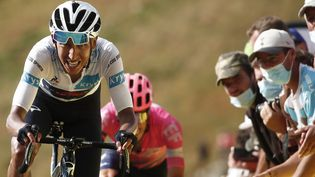 Egan Bernal en souffrance sur ce Tour 2020 (BENOIT TESSIER / AFP)