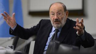Umberto Eco, le 22 octobre 2013. (CEM OZDEL / ANADOLU AGENCY / AFP)