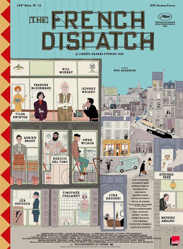 """L'affiche de """"The French Dispatch"""" de Wes Anderson (2021). (THE WALT DISNEY COMPANY FRANCE)"""