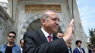 Le président turc Recep Tayyip Erdogan à Istanbul, le 17 avril 2017. (YASIN BULBUL / AFP)