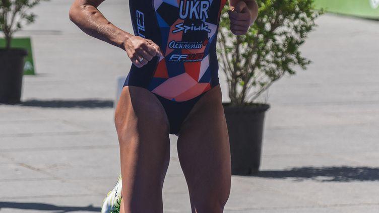 Yuliya Yelistratova, lors du de la coupe du monde de triathlon à Madrid le 5 mai 2019. (ARTURO BALDASANO / ARTURO BALDASANO)