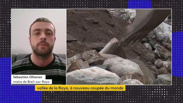 """Vallée de la Roya : """"C'est un épisode difficile à vivre pour les populations"""", Sébastien Olharon, maire de Breil-sur-Roya"""