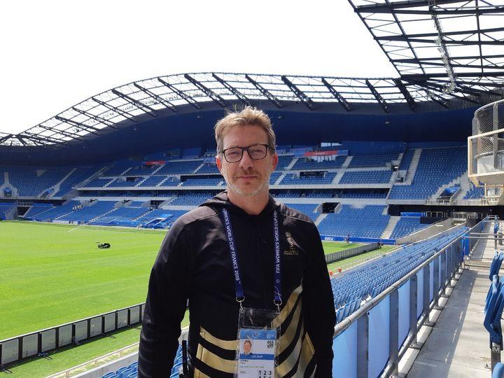 Yann Ledru, le directeurdu site Fifa du Havre. (CÉCILIA ARBONA / RADIO FRANCE)