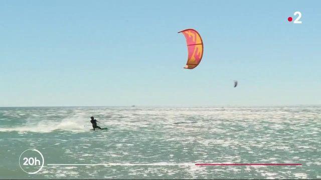 Aude : la plage de Leucate, paradis des sports de glisse