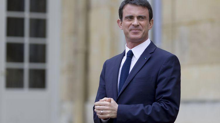 Le Premier ministre, Manuel Valls, à Paris, le 16 avril 2015. (KENZO TRIBOUILLARD / AFP)