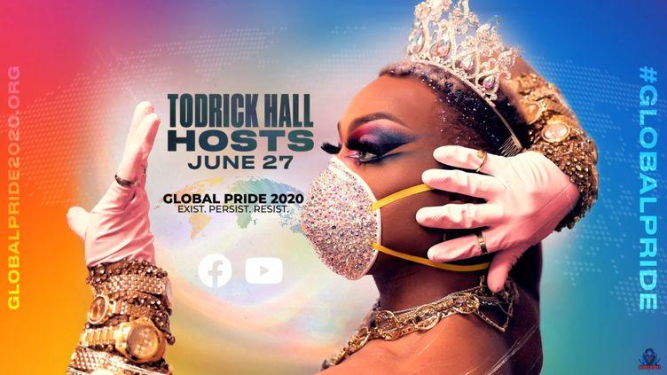 """Capture d'écran du flux vidéo de la """"Global Pride"""", organisée pour célébrer la marche des fiertés malgré le coronavirus. (GLOBAL PRIDE)"""