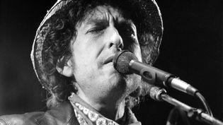 Bob Dylan lors d'un concert à Munich (Allemagne), le 3 avril 1984. (ISTVAN BAJZAT / DPA / AFP)