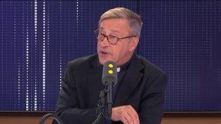 Mgr Patrick Chauvet, recteur de la cathédrale Notre-Dame de Paris,sur franceinfo. (FRANCEINFO / RADIOFRANCE)
