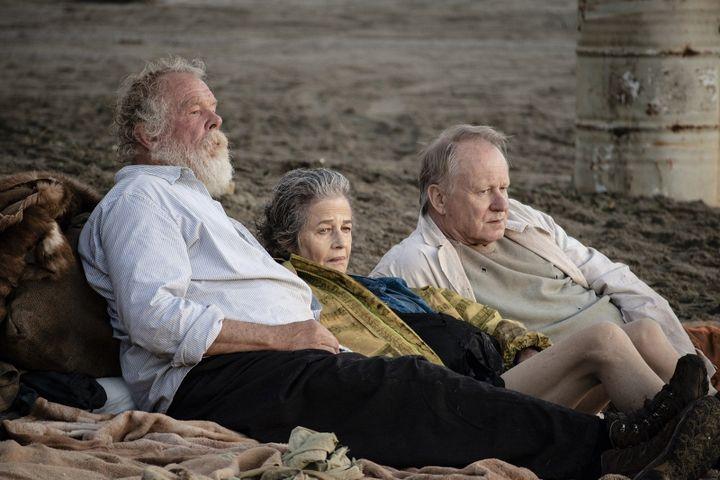 "Nick Nolte, Charlotte Rampling,et Stellan Skarsgård dans ""Last Words"" de Jonathan Nossiter. (DR)"