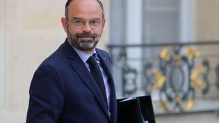 Edouard Philippe sur le perron de l'Elysée, le 30 octobre 2019. (LUDOVIC MARIN / AFP)