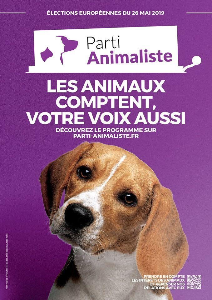L'affiche de la listedu parti animalistepour les européennes 2019. (FRANCEINFO)