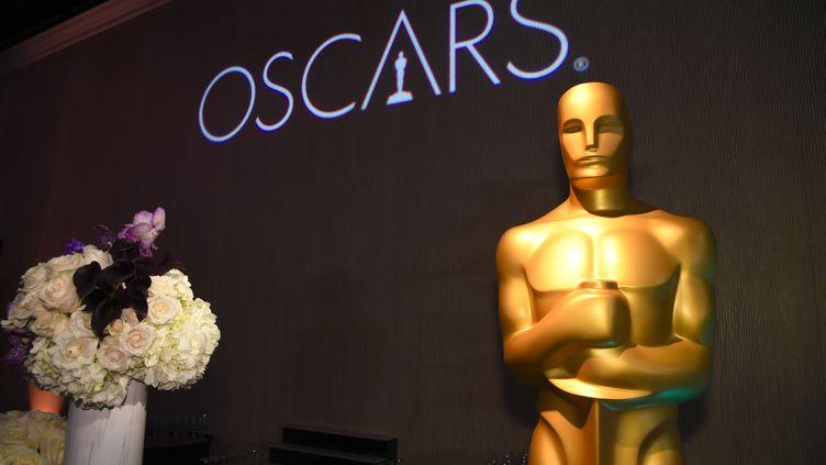 La statue d'un Oscar lors de la cérémonie le 4 février 2019 à Berverly Hills (Californie). (ROBYN BECK / AFP)