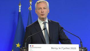 Le ministre de l'Economie, des Finances et de la Relance, Bruno Le Maire, le 7 juillet 2020 à Bercy, à Paris. (ERIC PIERMONT / AFP)