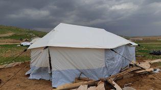 Un campement bédouin détruit par l'armée israélienne en Cisjordanie, jeudi 4 février 2021. (FREDERIC METEZEAU / RADIO FRANCE)