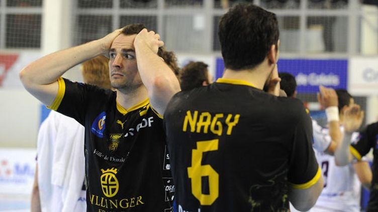 Les joueurs de Dunkerque Guillard et Nagy