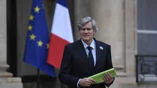 Stéphane Le Foll quitte le palais de l'Elysée, à Paris, le 9 novmebre 2016. (STEPHANE DE SAKUTIN / AFP)