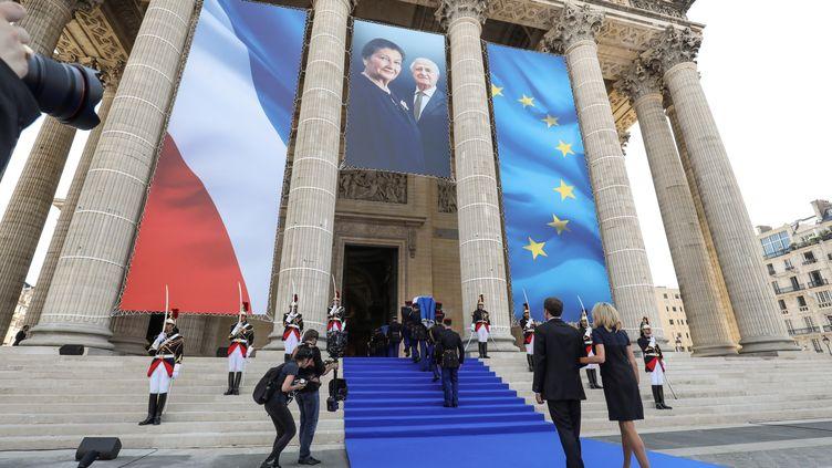L'entrée du Panthéon de Simone et Antoine Veil, le 1er juillet 2018. (LUDOVIC MARIN / POOL)