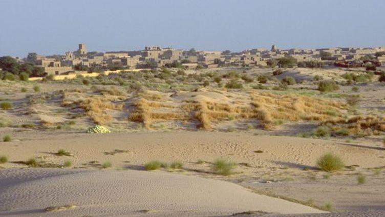 Du sable et peu de végétation autour de Tombouctou, ville mythique en détresse  (AFP / UN Photo)