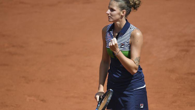 La joueuse tchèque Karolina Pliskova (FRANCOIS XAVIER MARIT / AFP)