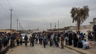 Dans la ville de Hammam Al Alil (Irak), autrefois aux mains de l'EI et reconquise par les forces gouvernementales, le 20 novembre 2016.  (OLYA MORVAN / HANS LUCAS / AFP)