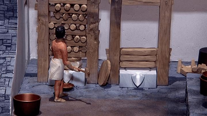 Reconstitution de l'atelier du parfumeur à Délos (Grèce)  (France 3 / Culturebox)