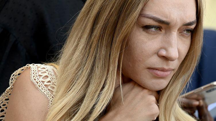 Inna Shevchenko,ilitante féministe et leader du mouvement international Femen, le 23 août 2019. (PHILIPPE LOPEZ / AFP)