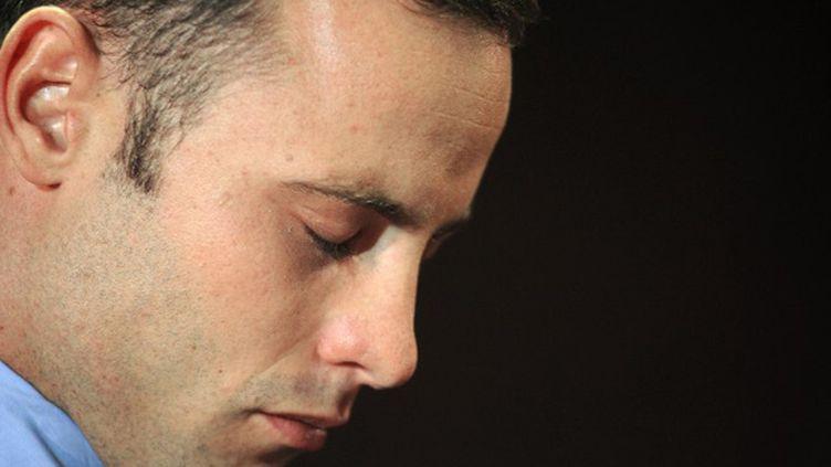 Oscar Pistorius, tête basse, avant le réquisitoire