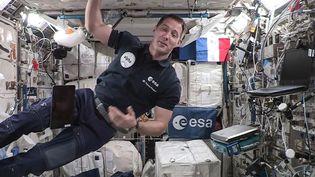 L'astronaute français Thomas Pesquet dans une vidéo enregistrée à bordde la Station spatiale internationale, le 3 septembre 2021. (AFP / EUROPEAN SPACE AGENCY)